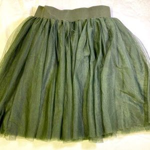 Matilda Jane tulle skirt green size 10